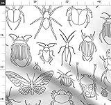 Käfer, Schmetterlinge, Ausmalen, Umrisse Stoffe -