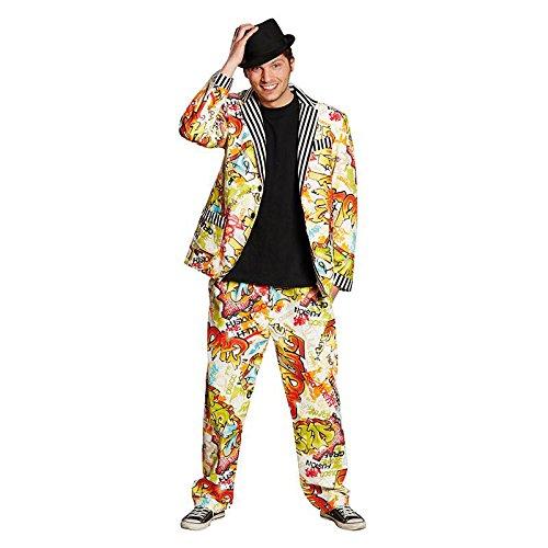 Grafitti Anzug Herren Suit Kostüm Karneval