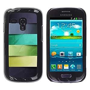 Be Good Phone Accessory // Hartschalen Handyhülle Schutzhülle Schutz Etui Hülle für Samsung Galaxy S3 MINI NOT REGULAR! I8190 I8190N // Monotone Stripes Pattern Pastel