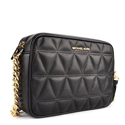 MICHAEL by Michael Kors Ginny Borsa Camera in Pelle Nero Donna Nero