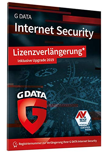 G DATA Internet Security 2019 | Upgrade | Antivirus | 1 PC | 1 Jahr | Windows | Trust in German Sicherheit