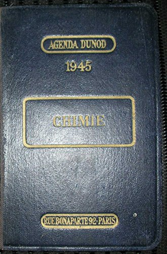 AGENDA DUNOD CHIMIE 1945