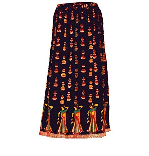 Kurti Studio Women Dark Blue Premium Long Skirt  available at amazon for Rs.299