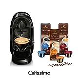Tchibo Cafissimo Pure Kaffee Kapselmaschine inkl. 30 Kapseln, Black