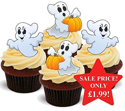 Halloween Casper das Geist Kinder Mix - Interessante Neuheit PREMIUM AUFSTEHEN Essbar Waffel Papier Kuchen Topper Dekoration