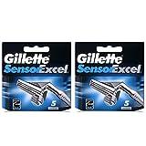 10Klingen Gillette Sensor Excel Rasierklingen Druckerpatronen Refill (5Klingen X 2Stück)
