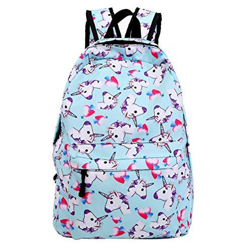 Unicornio Mochilas Escolares Bolsa para Estudiantes Backpack Fashion 3D Impresión Unicornio Adolescentes Jóvenes