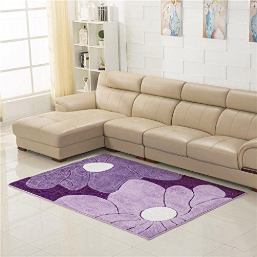 337 Alfombra Cifrado rectangular de alfombra Más gruesas alfombras nórdicas Sala de estar Mesa de centro Alfombra Morada Alfombra de noche ( Color : C , Tamaño : 120*170cm )