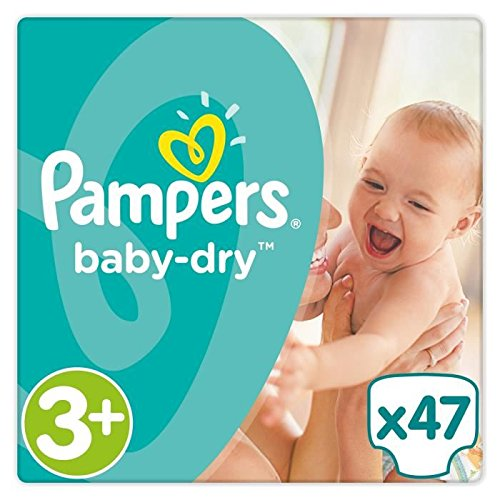 PAMPERS Baby Dry Taille 3+ - 6 a 10 kg - 47 couches - Format pack Géant
