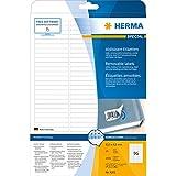 Herma 4202 Étiquettes movables/amovibles 63,5 x 8,5 A4 Blanc