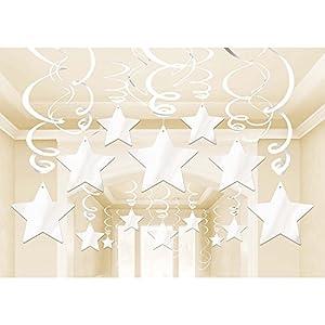 Amscan International-674474-08blanco Swirl Kit de decoración