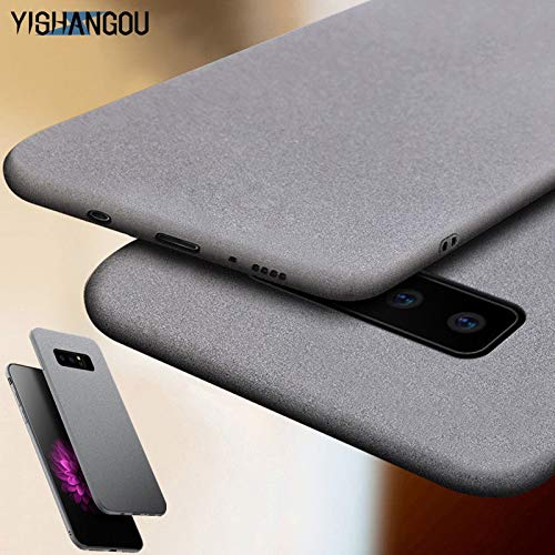 DMMDHR Luxury Sandstone Matte Soft Phone Case for Samsung GalaxyA7 A9 2018 A6 A6S A9S Prime,Atmospheric Gray,for Samsung A7 2018