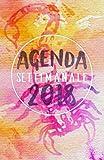 Agenda Settimanale 2018 rosa scorpione: Weekly Planner in italiano del 2018, da borsa, 12 mesi, 52 settimane