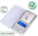 #5: CASON-Mini Portable 0.01 g(10 mg) To 200 g Grams Pocket Scale Digital Scale Weighing Scale Electronic Scaling LCD Accurate Weight Capacity For Measuring Jewellery,kitchen