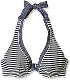 ESPRIT Bodywear Damen Neckholder Bikinioberteil HAMPTONS BEACH Gestreift, Blau (400 Navy), Gr. 90C (Herstellergröße: DE 44)