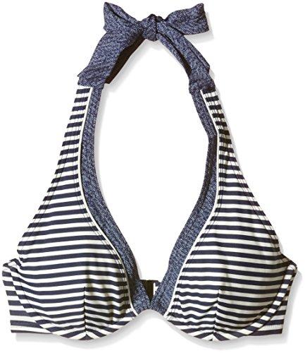 ESPRIT Bodywear Damen Neckholder Bikinioberteil HAMPTONS BEACH Gestreift, Blau (400 Navy), Gr. 70B (Herstellergröße: DE 36)