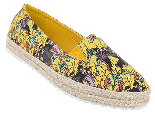 Damen-Schuhe Slipper | stilvolle Halbschuhe in verschiedenen Farben und Größen | Schuhcity24 | Stiefel Stiefeletten| Hippie Schuhe Gelb