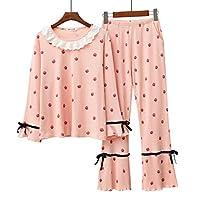 Long Sleeve Cotton Pyjamas Set Nightwear for Big Girls and Womens