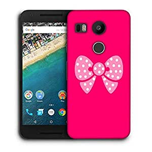 Snoogg cute bow Designer Protective Back Case Cover For LG Nexus 5X