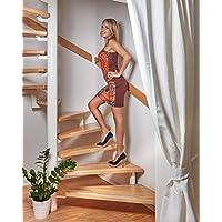 foto-kontor Tiras Antideslizantes para escaleras y peldaños de Color Transparente Blanco 18 Tiras Antideslizantes