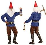 Kostüm Zwerg rot gelb blau grün Zwergenkostüm Gnome Faschingskostüm 901623 Checklife (X-Large, blau)