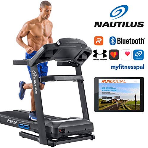Nautilus Laufband T628 - 3, 5 PS Motor - Geschwindigkeit: 0.8 - 20 km/h - Steigung: 0 - 15 {2af034b1419ca45560aad7705e53fce3b225d5bd83002da598023846e19ae984} - Soft-drop-Klappsystem - RunSocial kompatibel - Laufmatte 3ply