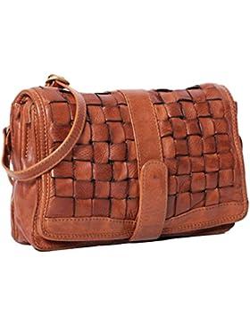 ALMADIH *Josie* Leder Damentasche aus Premium Rindsleder braun Vintage - Ledertasche Umhängetasche Clutch Bag...