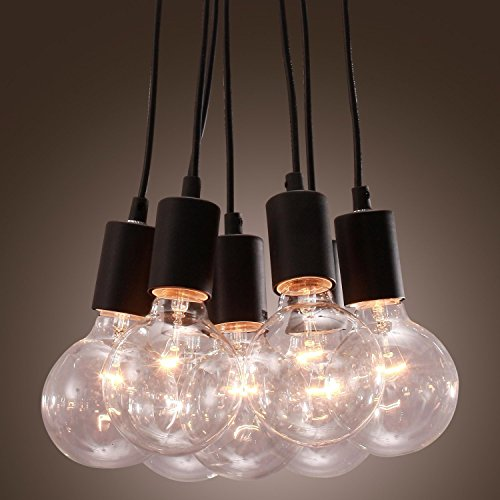 40W E27 minimalistische Pendelleuchte mit 7 globe Glühbirnen Hängelampe