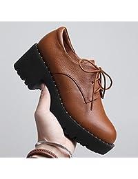Jqdyl High Heels Damen Einzel Schuhe Grob High Heels Sandalen Jahreszeiten Damenschuhe  Black