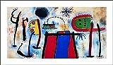 """L'AFFICHE ILLUSTRE'E Mirò """"Peinture """" Stampa Artistica su carta di spessore e di gr.300 cm.60 x 80 cod.32145 AUTORIZZAZIONE S.I.A.E."""