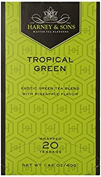 Harney & Sons Green Tea, Tropical, 20 Tea Bags