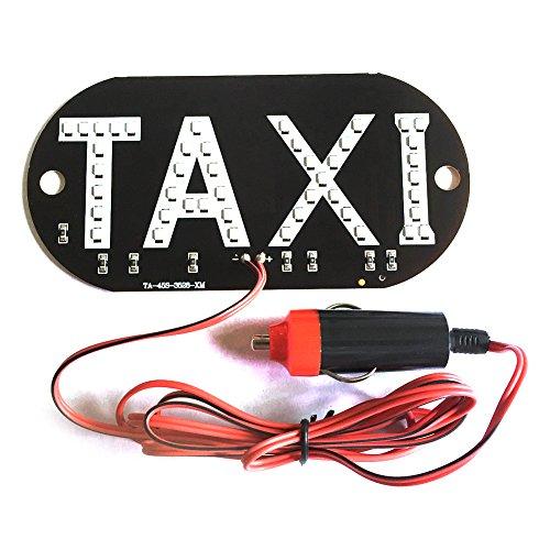 elegantstunning 12V Cabine Taxi Pare-Brise Pare-Feu LED Lampe Ampoule avec Disque D'aspiration Allume-Cigare