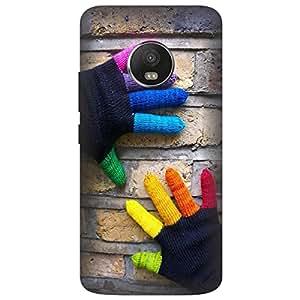 Koolbug Colorful Gloves Hard Polycarbonate Designer Back Case Cover For Motorola Moto G5 Plus