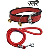 S.Blaze 1 INCH RED Designed Dog Collar Belt, 1.5M-2M LENGTHY Dog Dog Collar & Leash (Medium, Multi Color)