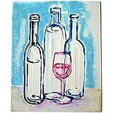 Stillleben Blauen Flaschen 1