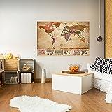 murando - VLIES POSTER WELTKARTE 150x100 cm Wandbild - Kunstdruck - Bild - Fototapete - Dekoration - Design Welt Karte Landkarte k-A-0212-c-a