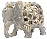 *Article en Vente* SouvNear Sculpté à la Main la Sculpture de la Stéatite de la Mère éléphant avec Bébé à L'intérieur - Art Impossible - éléphant Décor Statue - Symbole de Chance pour la Fertilité et Douche de Bébé Idées Cadeaux - Décor de Maison Unique
