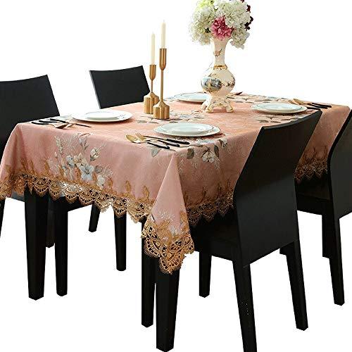 XF Tischdecke Couchtisch Stoff rechteckige Mädchen Herz rosa Prinzessin Wind kleine frische Tabelle Wohnzimmer Mädchen Küchentextilien (Size : 120x120cm)