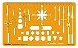 Linograph Navigations-Pfeile Schablone Design und Zeichnung Technische Vorlage