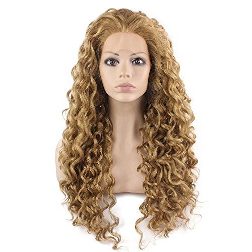 Iwona lang hitzebeständiges Synthetikhaar Celebrity Ash Blond Gelockt Lace Front ()