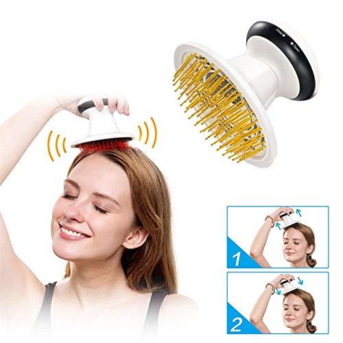Tragbares elektrisches Kopfhautmassagegerät, Kopfmüdigkeits-Gesundheits-Massage-Kamm, Druckentlastung, Haar-Kopfmassagegerät-Haarpflege -