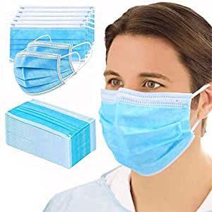 GreatDio® Non Woven Fabric 3 Layer Pollution Face Dust Surgical Disposable Mask With Nose Pin (25 Pack)