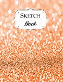 Sketch Book: Glitter   Sketchbook   Scetchpad for Drawing or Doodling   Notebook Pad for Creative Artists   #5   Orange