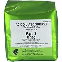 GREENSISTEM Acido ASCORBICO kg. 1 Puro E300 - No OGM - VITAMINA C - GLUTINE Free