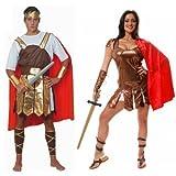 Couples Hommes et femmes Romain guerriers GLADIATEURS costume toge grecque déguisement costume déguisement