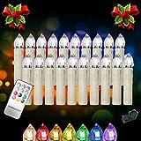 Hengda® 20 Stück LED Weihnachtskerzen Wasserdichte Christbaumsdeko Kerzen Lichterkette mit Timer und 7 verscheidene Lichtmodifikationen