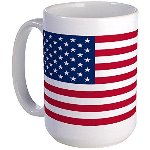 Bandera de Estados Unidos CafePress tamaño grande taza de tamaño gra