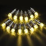 Atcket, set da 12 luci a LED per palloncini, alimentate a batteria, colore della luce bianco caldo, luci decorative per addobbi, non lampeggianti. Mini lampade per lanterne di carta e palloncini. Per fester, matrimoni, decorazioni con la luce