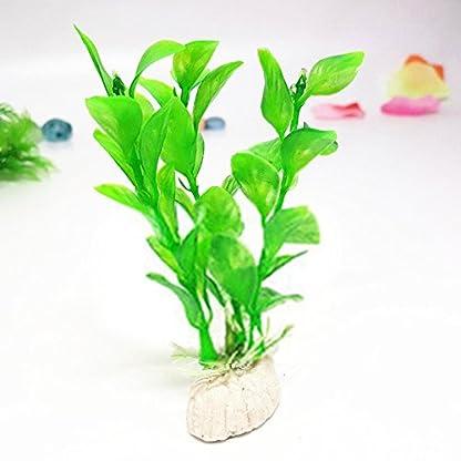 LAAT 10pcs Artificial Aquatic Plant Decoration for Aquarium Plastic Fish Tank Plants Accessories (2) 8