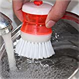 Zagmagat Plastic Cleaning Brush with Liquid Soap Dispenser, Self Dispensing Cleaning Brush (1)